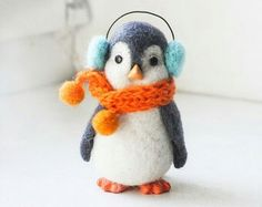 Knit a scarf for my needle felted creatures!