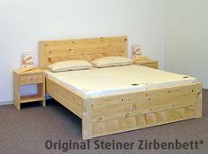 Zirbenbett Predigtstuhl Doppelbett Massivholzbett