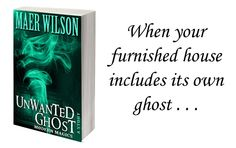 """Refer friends and share posts to unlock your FREE Kindle copy of """"Unwanted Ghost."""" Paranormal detectives Thulu & La Fi inherit a furnished house and get a surprise."""