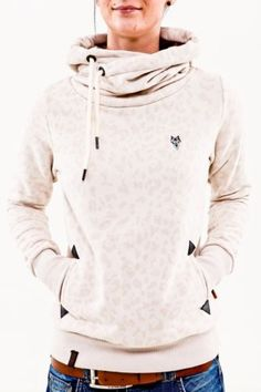 Naketano Wild Darth light beige melange Women Hoodie Kapuze Pullover