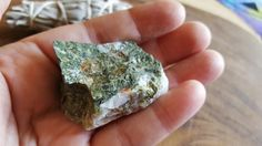 Epidote (Pistacite) in Quartz (Green Rutile Quartz) ~ 1 Large Reiki infused rough crystal approx 1.7x1.1x1 inches (EQ03) by Kiliamma on Etsy