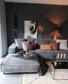 Living room decor ideas cozy interior design 5 - www. Interior Design Living Room Warm, Living Room Modern, Modern Interior, Small Living, Cozy Living, Contemporary Living Room Designs, Contemporary Rugs, Modern Design, Living Room Colors