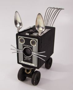 Found object Robot Cat from Bills Retro Robots on Etsy