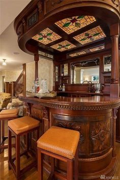 """Explore our internet site for more relevant information on """"bar furniture for sale"""". It is a superb location for more information. Basement Bar Designs, Home Bar Designs, Home Wet Bar, Bars For Home, Bar Furniture, Unique Furniture, Old Mansions Interior, Old Bar, Pub Design"""