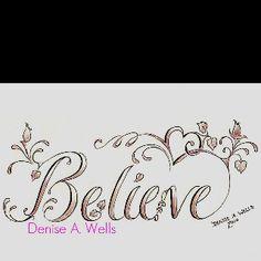 Believe tattoos for women - Bing Images Tatoo Dog, Tatoo Henna, I Tattoo, Wrist Tattoo, Tattoo Flash, Tattoo Small, Sketch Tattoo, Tattoo Quotes, Ying Und Yang Tattoo