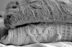 A black and white picture of super snuggly sweaters. Uploaded by PastelAngel101™