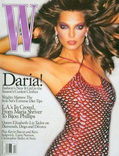 Daria Werbowy cover magazine.