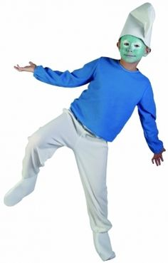 Smurf fancy dress costume