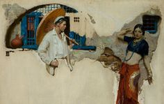 Dean Cornwell-- illustration from magazine story 'Never the Twain Shall Meet' (1923