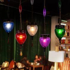 Loft Vintage Glass Edison Pendant Lamp Retro Coloured Glaze Cafe Bar Shop Store Hall Club Led Pendant Lights Fixtures Droplight  #Affiliate
