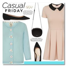 """T.G.I.F"" by igedesubawa ❤ liked on Polyvore featuring Yumi, N°21, Jimmy Choo, Nicole, Lipsy, casualfriday and cutecardigan"