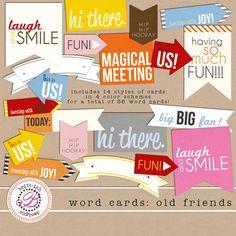 Quality DigiScrap Freebies: Old Friends word art freebie from Britt-ish Designs