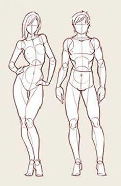 Learn To Draw People - The Female Body - Drawing On Demand Male Figure Drawing, Human Drawing, Figure Drawing Reference, Body Drawing, Drawing Base, Manga Drawing, Anatomy Sketches, Anatomy Drawing, Anatomy Art