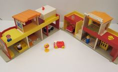 Fisher Price family village. Grandma had this at her house.