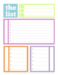 To-Do List with Blank Categories