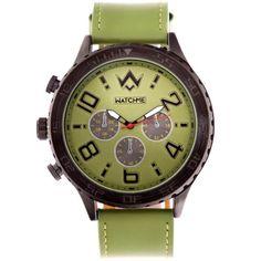 Ρολόι Watch Me Dynamic Green Leather Strap