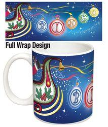 Santa And His Bingo Balls Mug Can Bring the Joy of Christmas to Your Bingo Lover All Year. Christmas Bingo, Xmas, Balls, Santa, Joy, Canning, Tableware, Gifts, Design