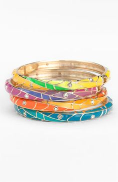 Sequin Multicolor Hinged Bangles. LOVE!