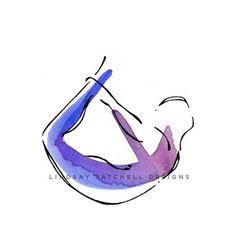 Your place to buy and sell all things handmade Bow Pose – Yoga Art Print Pilates Poses, Yoga Drawing, Yoga Illustration, Yoga Studio Decor, Bow Pose, Yoga Art, Pilates Studio, Pilates Logo, Yoga Gifts