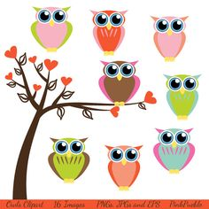 Owls Clip Art Clipart, Retro Owls Clip Art Clipart, Baby Owls - Commercial and… Baby Shower Clipart, Clipart Baby, Owl Classroom, Kindergarten Classroom, Classroom Ideas, Travel Clipart, Owl Clip Art, Teacher Appreciation Gifts, Teacher Gifts