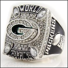 2010 Green Bay Packers Super Bowl World Champions Aaron Rodgers Design Salesman Sample Replica Ring