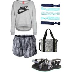 A fashion look from February 2015 featuring NIKE sweatshirts, NIKE activewear shorts and Chaco sandals. Browse and shop related looks.