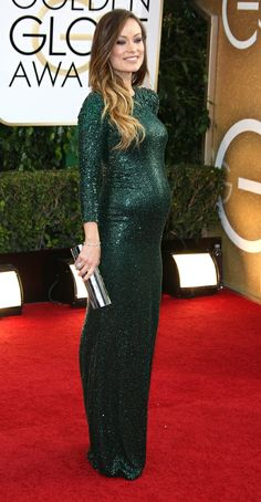 Olivia Wilde pregnant at the Golden Globes 2014| are you joking me??