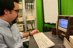 Trevor Muñoz, an associate director of the Maryland Institute for Technology in the Humanities, uses a Macintosh Classic II. The machine is ...