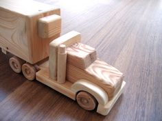 Jeffery the refrigerator wooden toy truck a by TrickTruck on Etsy