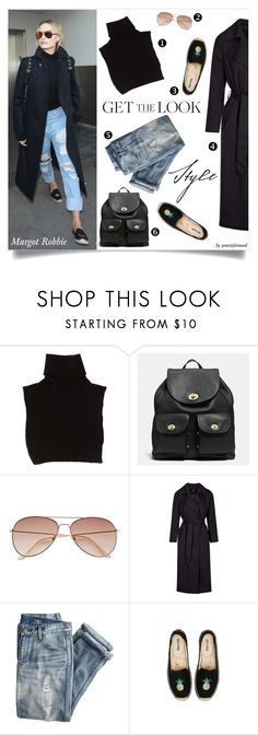 """""""Margot Robbie""""s style"""" by yourstylemood ❤ liked on Polyvore featuring Marc Jacobs, Coach, H&M, Topshop, J.Crew, Soludos, GetTheLook, polyvorecontest and margotrobbie"""