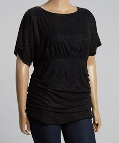 Another great find on #zulily! Black Animal Scoop Neck Top - Plus #zulilyfinds  $19.99