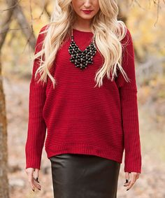 9cd22f0f79 Bella Ella Boutique Red Pullover Sweater