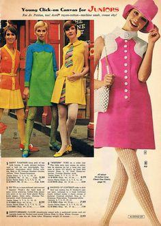 1960s Mod Fashion, 70s Women Fashion, Junior Fashion, Sixties Fashion, Retro Fashion, Vintage Fashion, Women's Fashion, Vintage Dresses, Vintage Outfits