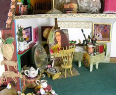 Frida Kahlo's Studio. Part of a doll house.