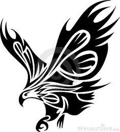 Tatuagem tribal da águia