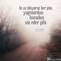 """#biracayipblog • """"Az az ölüyoruz her gün, yağmurdan havadan söz eder gibi."""" - Cahit Zarifoğlu / Hikayelerden • [Fotoğraf: @abdullahcadirci] • ✍ [Okur Postası: posta@biracayipblog.com] •  www.biracayipblog.com"""