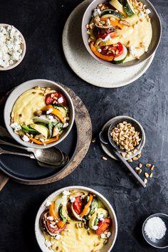 Creamy Goat Cheese Polenta With Ratatouille