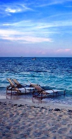 Chaise lounge with your name on it... waiting in West End, Grand Bahama.