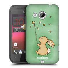 HEAD CASE PICKING STARCATCHER BUNNY SNAP-ON BACK CASE COVER FOR HTC DESIRE 200
