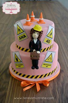 Tarta Ingeniera Riesgos Laborales Cake, Desserts, Food, Themed Parties, Pies, Pie Cake, Tailgate Desserts, Pastel, Meal