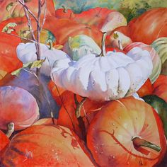 diaspora* is the online social world where you are in control. Watercolor Fruit, Watercolor And Ink, Watercolor Flowers, Watercolor Paintings, Autumn Painting, Autumn Art, Fall Fruits, Painting Inspiration, Color Inspiration