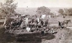 The most important part of the cattle drive: the chuckwagon! Taken in 1887 by John C. H. Grabill.