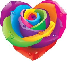 Religious Magic And Spiritual Ability Element One Lisa Frank Rose Heart Rainbow Roses, Rainbow Heart, Over The Rainbow, Rainbow Colors, I Love Heart, Peace And Love, 3d Templates, Lisa Frank Stickers, Heart Images