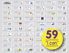 """NGSS middle school science standards posters that """"unpack"""" the standard and grab the attention of students. Colorful illustrations that include maps, charts, and diagrams from governmental science institutions like NASA, the National Climatic Data Center, and the U.S. Geological Survey. I tried to include a little something for every different type of scientist in your classroom. Compatible with the Next Generation Science Standards."""