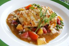 Food and lens: Grilled Halibut On Fruit Salsa And Spicy Chipotle Sauce