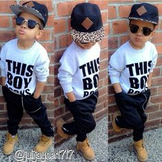 "this little boy got ""SWAG"""