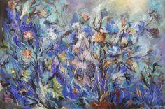 Wild flowers III/ painting, acrylic on canvas