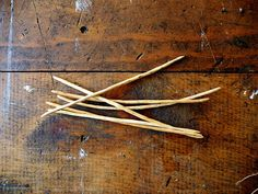 Handmade wood knitting needles, double pointed, Cypress wood, size 4 (3.5 mm).  Sox Sticks