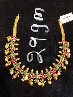 Gold Earrings Designs, Necklace Designs, Gold Designs, Jewellery Designs, Fancy Blouse Designs, Bridal Blouse Designs, Bold Necklace, Simple Necklace, Marriage Jewellery
