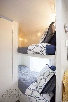 small camper remodel bunks